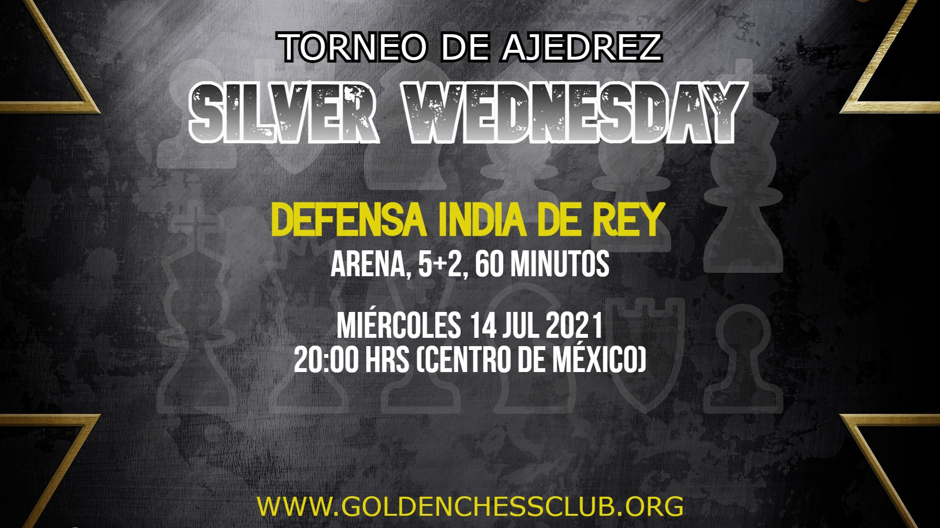 TORNEO DE AJEDREZ SILVER WEDNESDAY INDIA DE REY ARENA 140721